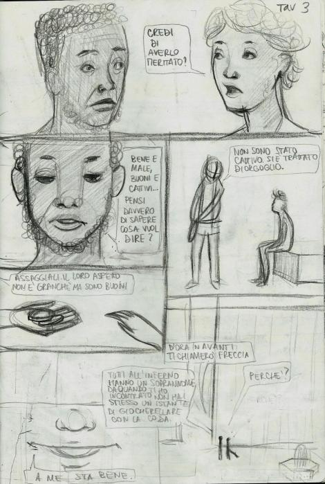 Emilio Alessandro Manzotti_Alessandra Santelli_romanzo FRECCIA_graphic novel_tav 3